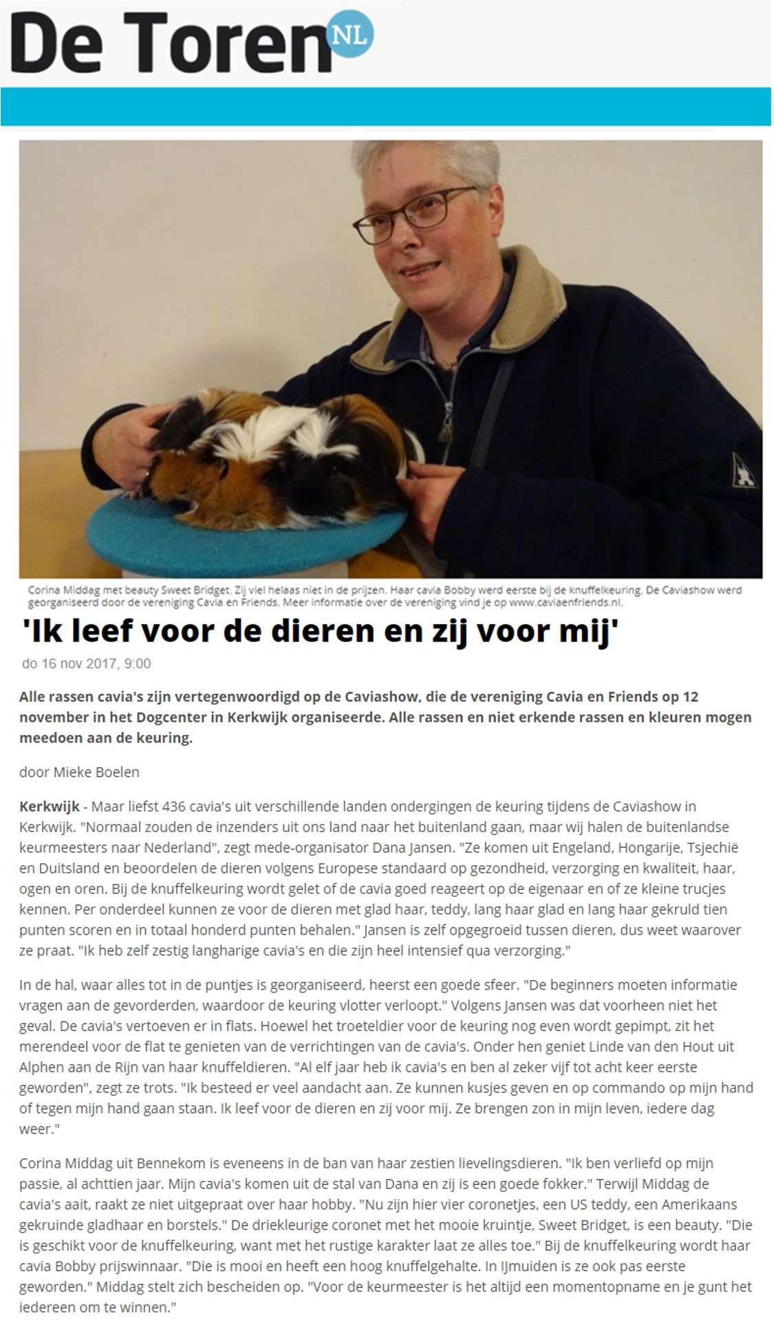 Cavia en Friends nov 2017 art Toren